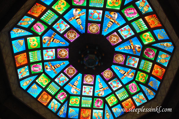 stained glass skylight in Mutrah market