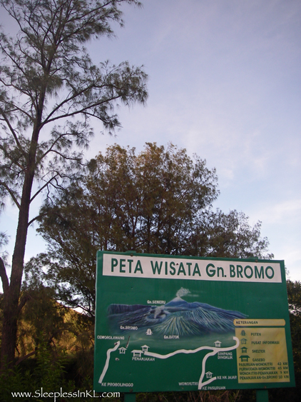 visitor's map - Bromo
