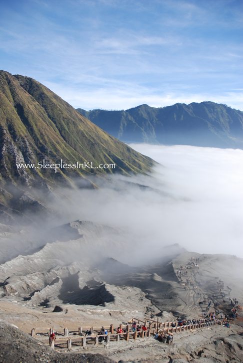 view from Mt Bromo