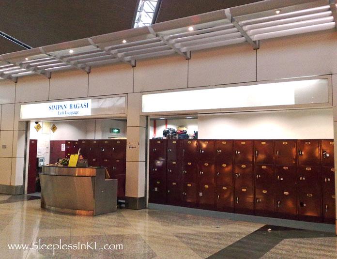 Left Luggage Lockers At KLIA